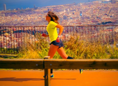 On track: Niamh Ní Chuaig training at home in Barcelona.
