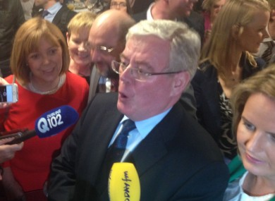 Eamon Gilmore with Martin Schulz and the Labour MEP candidates (including Phil Prendergast) in Dublin this evening.