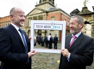 Irish Computer Society Deputy CEO Tom O'Sullivan and Seán Kelly MEP launching Tech Week Ireland back in March.