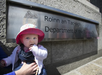Our Children's Health campaign holding a protest outside Government buildings.