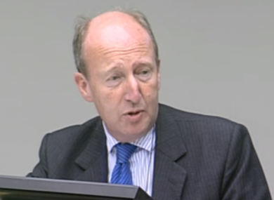 Independent TD Shane Ross at the Public Accounts Committee this morning
