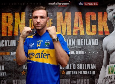 Matthew Macklin pictured at Croke Park on Wednesday.