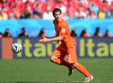Janmaat featured in five World Cup games in Brazil.