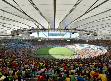 The Maracana, where the World Cup final will be played.
