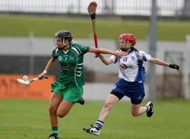 Claire Mulcahy takes on Lorraine Bray in Dr Cullen Park today.