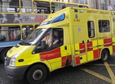 File photo of a Dublin Fire Brigade ambulance.