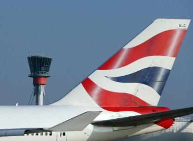File photo of a British Airways plane at Heathrow.