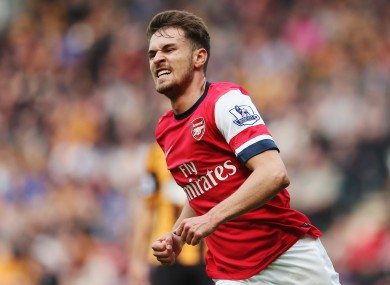 Arsenal midfielder Aaron Ramsey will line out at Wembley tomorrow.
