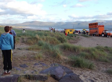 The scene at Inch Strand yesterday evening.