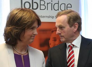 Tánaiste Joan Burton and Taoiseach Enda Kenny