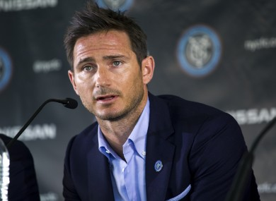 Lampard is back in the Premier League before his move to New York City.