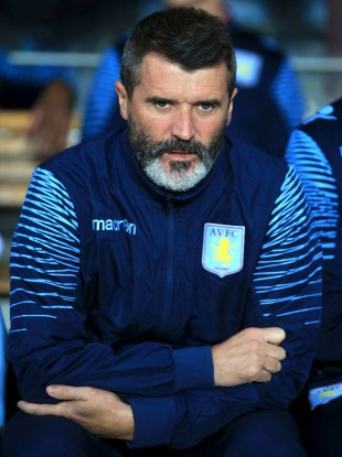 Villa assistant Roy Keane on the bench tonight.