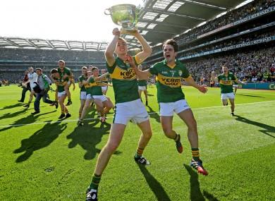Barry O'Sullivan and Cormac Coffey celebrate.