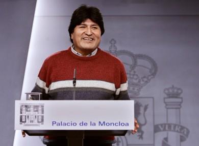 Evo Morales: President, barbecue-lover.