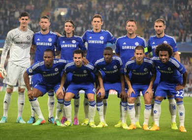 Chelsea line up ahead of their game with Schalke.