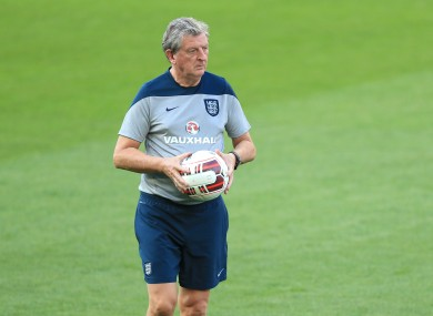 Hodgson hit out at his players in an open training session recently.