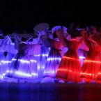 Artists perform during the opening ceremony for the 17th Asian Games in Incheon, South Korea.<span class=