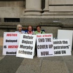 Survivors of Symphysiotomy outside Government Buildings.