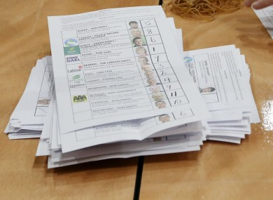 A ballot paper in Dublin South-West yesterday