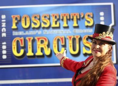 Ring Master Marion Fossett of Fossetts Circus celebrating their 125th birthday in 2013.