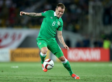 Glenn Whelan is one of the most experienced players in the Ireland set-up.