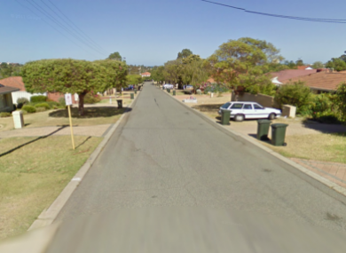 Helmsley Street in Scarborough, Perth, where the stabbing occurred.