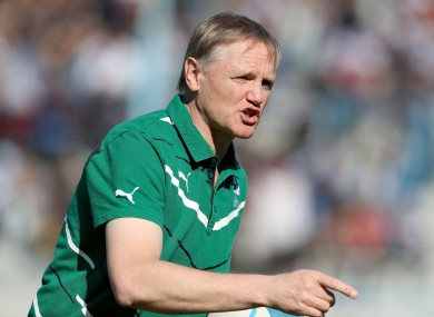 Ireland head coach Joe Schmidt is contracted until 2016.