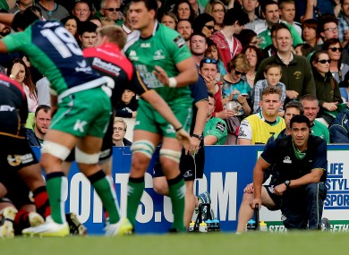 Muliaina has been ever-present on the sidelines for Connacht this season.