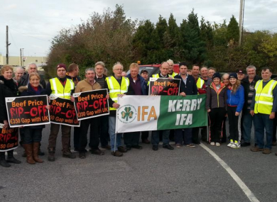 Protestors at Kerry