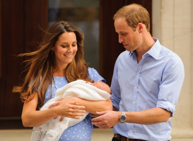 Kate and Wills pictured with their first child last year.