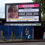 Photo from 2012 of a billboard showing missing girl April Jones.