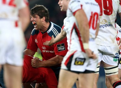 O'Callaghan celebrates at the final whistle.