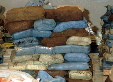 File photo of a drugs seizure