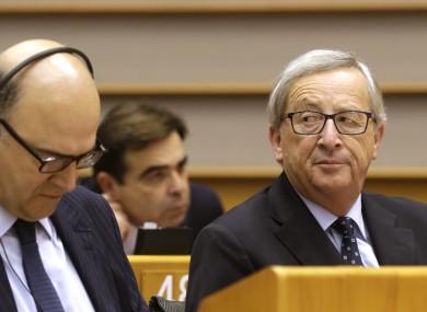 European Commission president Jean-Claude Juncker (right)
