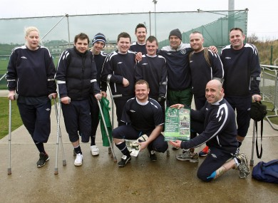 Marco Tardelli with members of the Ireland amputee football team in 2012.