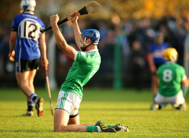 Philip O'Loughlin celebrates after today's victory for Kilmallock.