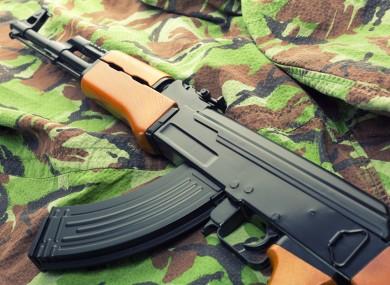 An AK47 rifle.