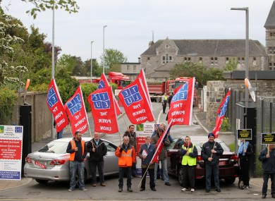 TEEU protest at site in Grangegorman earlier this year.
