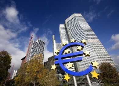 The European Central Bank headquarters in Frankfurt, Germany.