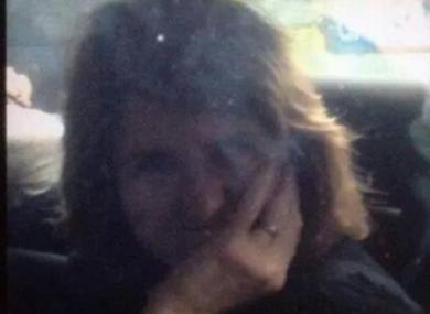 Joan Burton in her car in Jobstown last month
