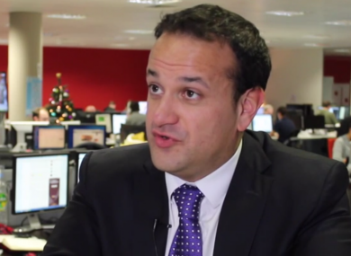 Leo Varadkar speaking to TheJournal.ie today