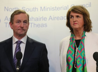 Enda Kenny and Joan Burton