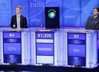 Watson, as it appeared on the US quiz show Jeoprady! back in 2011.