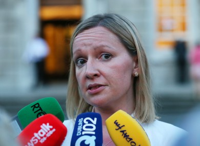 Lucinda Creighton speaks to the media on the evening she was expelled from the Fine Gael parliamentary party in July 2013.