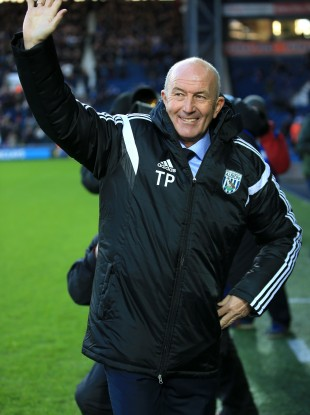 It was all smiles for Pulis and the Baggies.