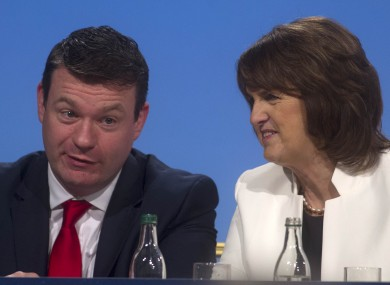 Alan Kelly and Joan Burton at the Labour conference this weekend