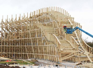 Ireland Will Soon Have The Largest Inverted Wooden Rollercoaster In