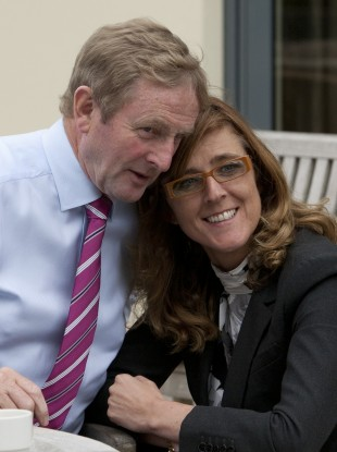 Michelle Mulherin pictured with Taoiseach Enda Kenny in 2014.