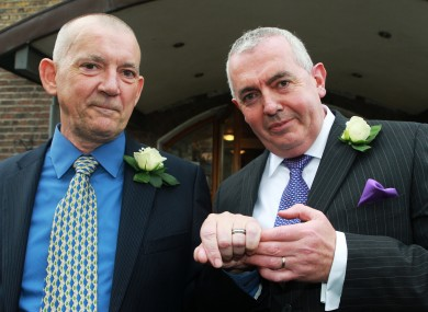 Nicholas Nelson and Thomas Cahalan became the second male couple in Ireland to enter into a civil partnership in 2011.
