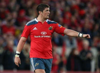 Downey has had two spells with Munster.